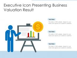 Executive Icon Presenting Business Valuation Result