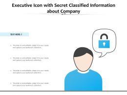 Executive Icon With Secret Classified Information About Company