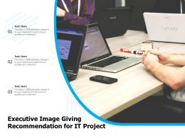 Executive Image Giving Recommendation For IT Project