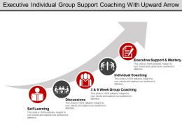 Executive Individual Group Support Coaching With Upward Arrow