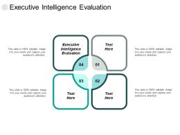 Executive Intelligence Evaluation Ppt Powerpoint Presentation Inspiration Layout Ideas Cpb