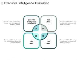 Executive Intelligence Evaluation Ppt Powerpoint Presentation Inspiration Layout Ideas Cpb