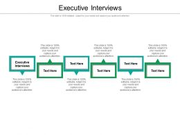 Executive Interviews Ppt Powerpoint Presentation Summary Backgrounds Cpb