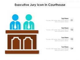 Executive Jury Icon In Courthouse