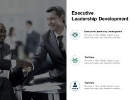 Executive Leadership Development Ppt Powerpoint Presentation Infographics Good Cpb