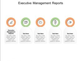 Executive Management Reports Ppt Powerpoint Presentation Model Good Cpb