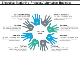Executive Marketing Process Automation Business Intelligence Marketing Concept Cpb
