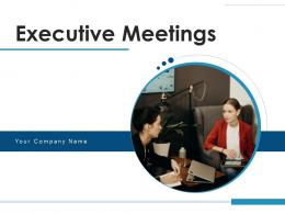 Executive Meeting Employees Taking Board Members Mobile Icon