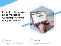 Executive Performing Email Marketing Campaign Analysis Using Bi Software