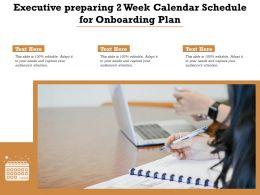 Executive Preparing 2 Week Calendar Schedule For Onboarding