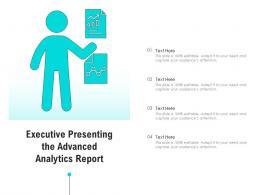 Executive Presenting The Advanced Analytics Report