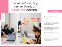 Executive Presenting The Key Points Of Town Hall Meeting