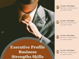 Executive Profile Business Strengths Skills