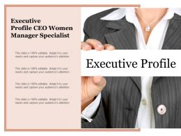 Executive Profile Ceo Women Manager Specialist