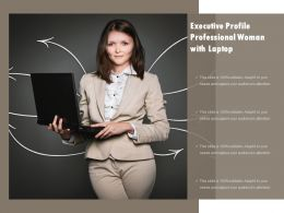 Executive Profile Professional Woman With Laptop
