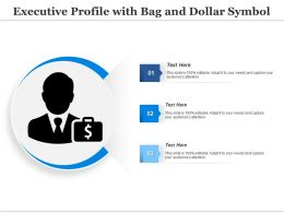 Executive Profile With Bag And Dollar Symbol