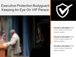 Executive Protection Bodyguard Keeping An Eye On Vip Person