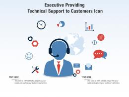 Executive Providing Technical Support To Customers Icon