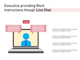 Executive Providing Work Instructions Though Live Chat