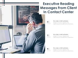 Executive Reading Messages From Client In Contact Center