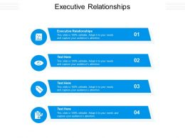 Executive Relationships Ppt Powerpoint Presentation Layouts Graphics Cpb