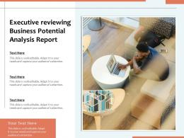 Executive Reviewing Business Potential Analysis Report