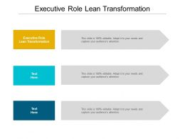 Executive Role Lean Transformation Ppt Powerpoint Presentation Professional Portrait Cpb