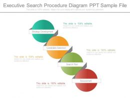 Executive Search Procedure Diagram Ppt Sample File