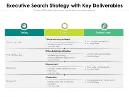 Executive Search Strategy With Key Deliverables