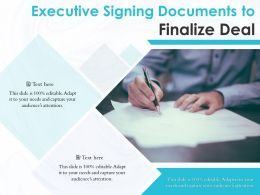 Executive Signing Documents To Finalize Deal