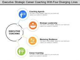 Executive Strategic Career Coaching With Four Diverging Lines