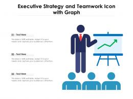 Executive Strategy And Teamwork Icon With Graph