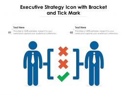 Executive Strategy Icon With Bracket And Tick Mark