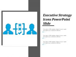 Executive Strategy Icons Powerpoint Slide