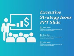 Executive Strategy Icons Ppt Slide