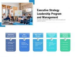Executive Strategy Leadership Program And Management