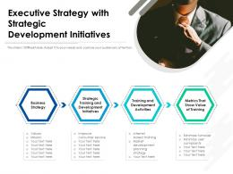 Executive Strategy With Strategic Development Initiatives