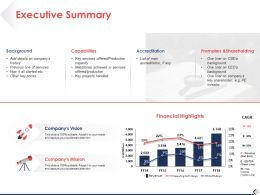 Executive Summary Background Ppt Pictures Slide Download