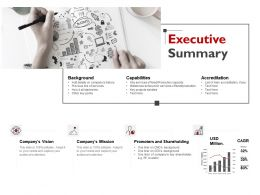 Executive Summary Capabilities Ppt Powerpoint Presentation File Ideas