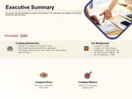 Executive Summary Company Mission Ppt Powerpoint Presentation Styles