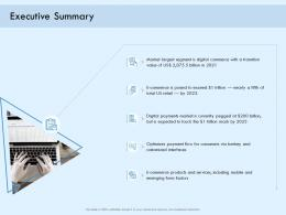 Executive Summary Digital Payment Online Solution Ppt Demonstration