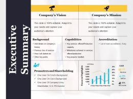 Executive Summary Example Of Ppt Presentation