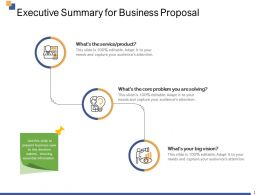 Executive Summary For Business Proposal Ppt Powerpoint Presentation Infographics