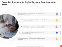 Executive Summary For Digital Payment Transformation Ppt Powerpoint Presentation Structure