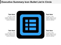 Executive Summary Icon Bullet List In Circle