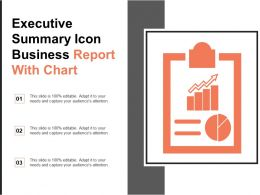 Executive Summary Icon Business Report With Chart
