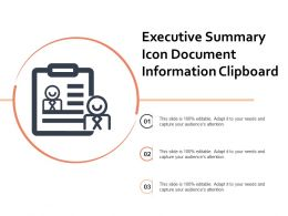 Executive Summary Icon Document Information Clipboard