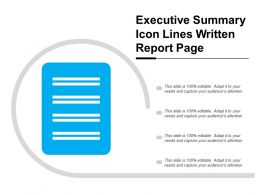 Executive Summary Icon Lines Written Report Page