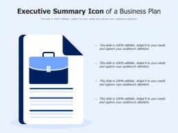 Executive Summary Icon Of A Business Plan