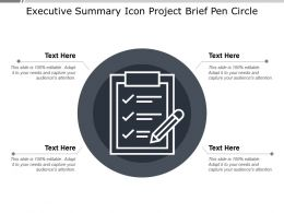 Executive Summary Icon Project Brief Pen Circle